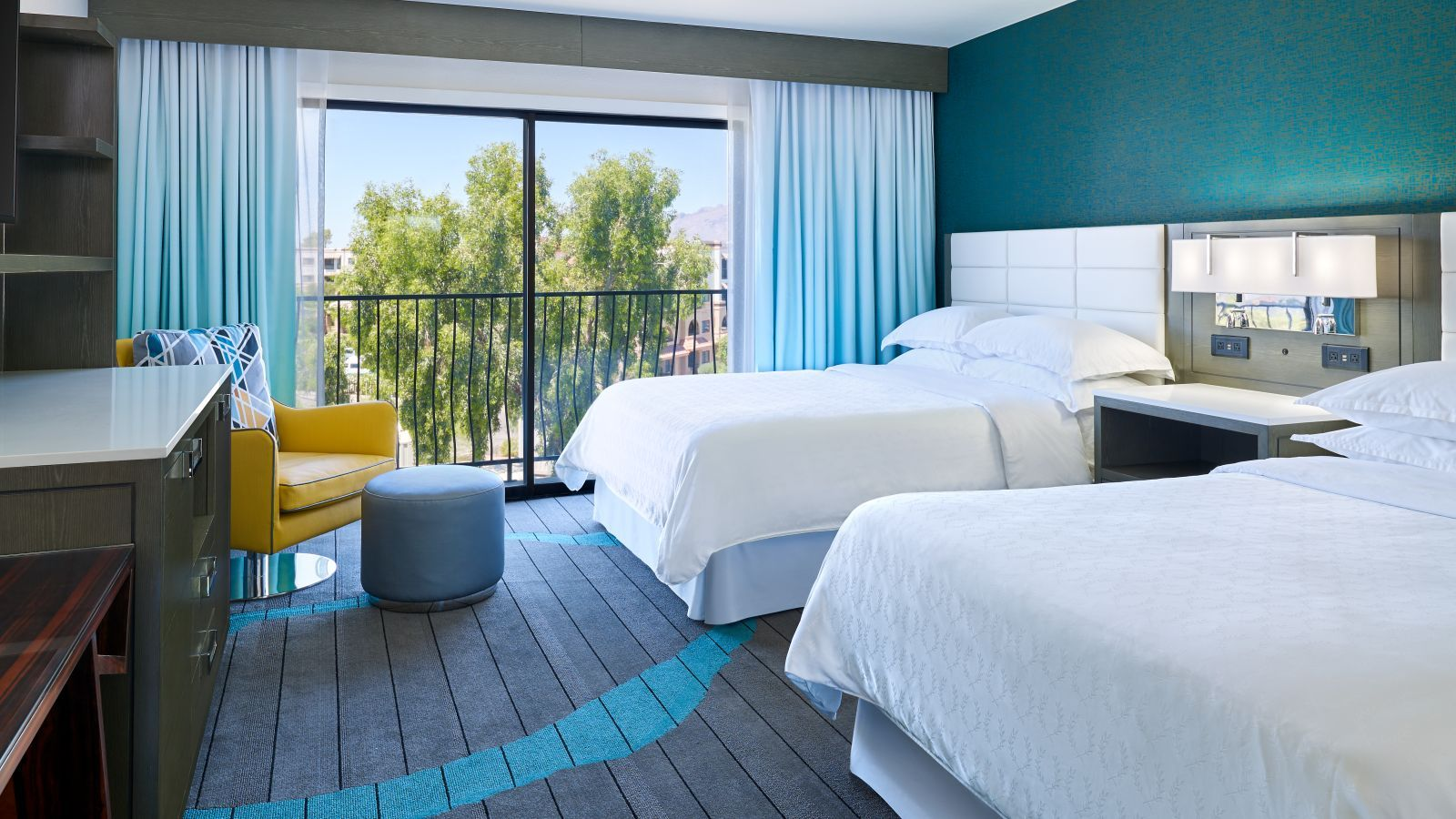 Queen Double Guest Room - Sheraton Tucson Renovation